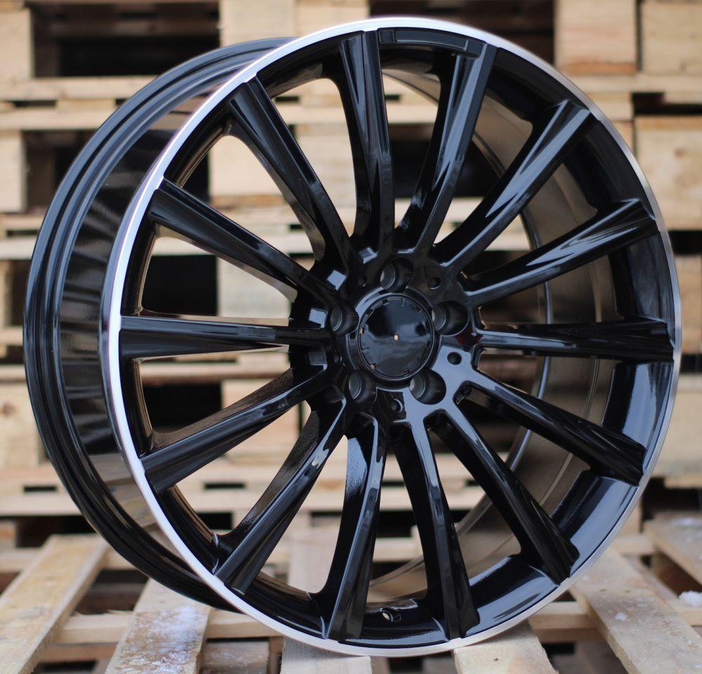 M20X9.5 5X112 ET43 66.45 BY1048 Black Half Matt+PL (Front+Rear) MER (+15eur)(P)## 9.5x20 ET40 5x112