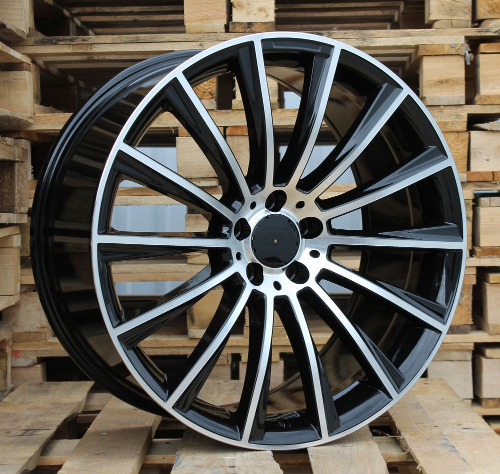 M19X7.5 5X112 ET44 66.6 B1048 (BK836) MB+Powder coating (Rear+Front) MER (+3 eur) (K2)## 7.5x19 ET44 5x112