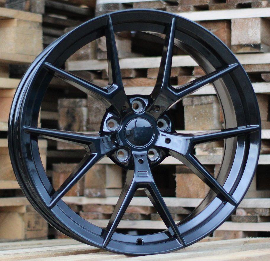 B20X8.5 5X112 ET26 66.6 HE761 Pearl Black (Rear+Front) RWR BM (K7)## 8.5x20 ET27 5x112